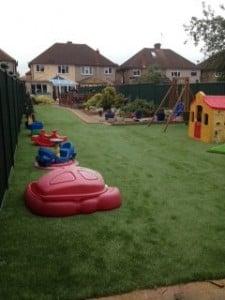 artificial grass in garden