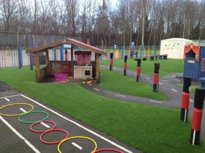 Artificial grass at Bilston Primary School