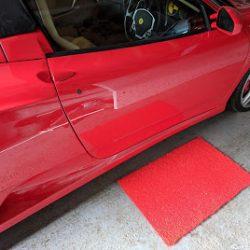 Solid Red Doormat