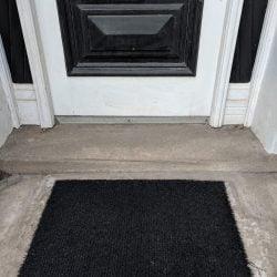 Solid Black Doormat