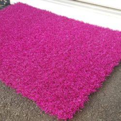 Solid Pink Doormat