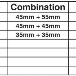 eco shocksafe combination table