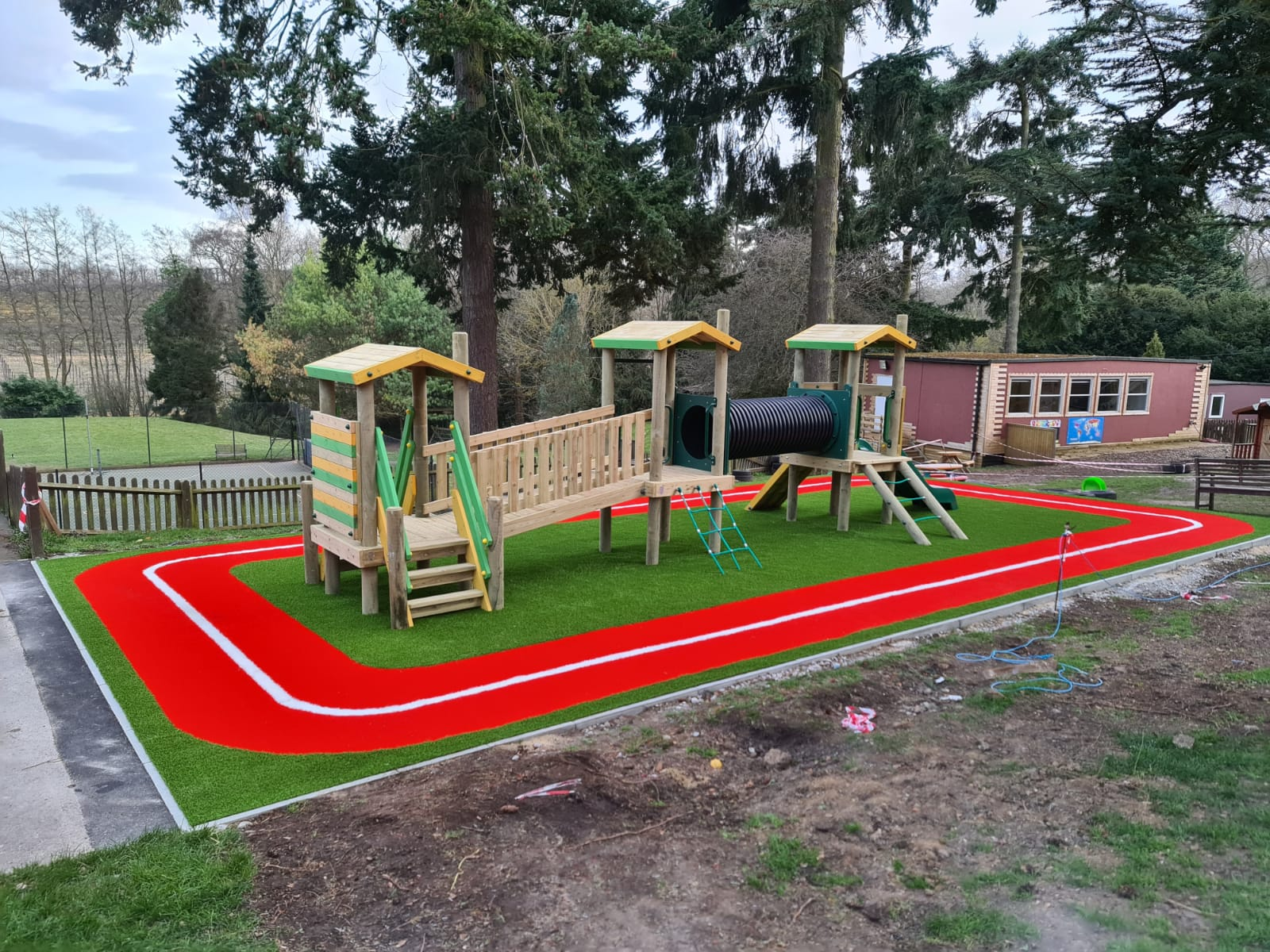 Rainbow red track